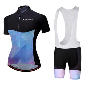 Womens Cycle Bib -OR- Shorts Kit, Mil Purple - Deluxe Riders