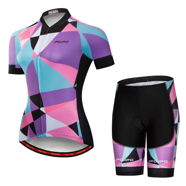 Womens Cycle Set ~ Shorts Kit -OR- Bib, J Pixer - Deluxe Riders