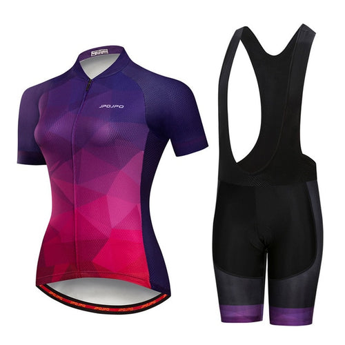 Womens Cycle Set ~ Shorts Kit -OR- Bib, J Pinkle - Deluxe Riders