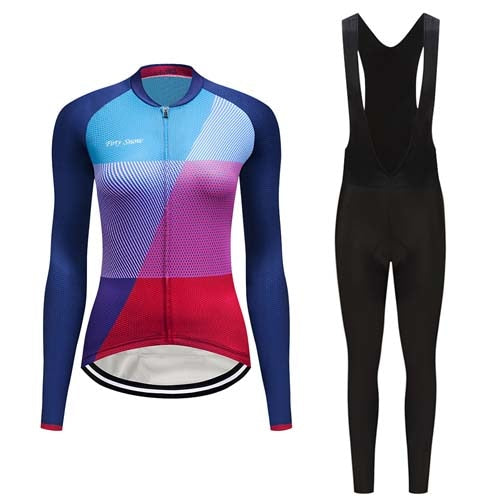 Women's Cycle Skinsuit ~ Long Kit -OR- Bib, Aero TN - Deluxe Riders
