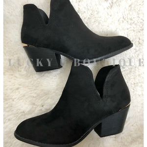 One Call Black Booties
