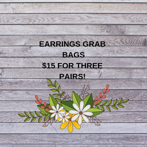 Earrings Grab Bag 3 for $15