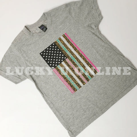 Youth Cheetah Flag Tee