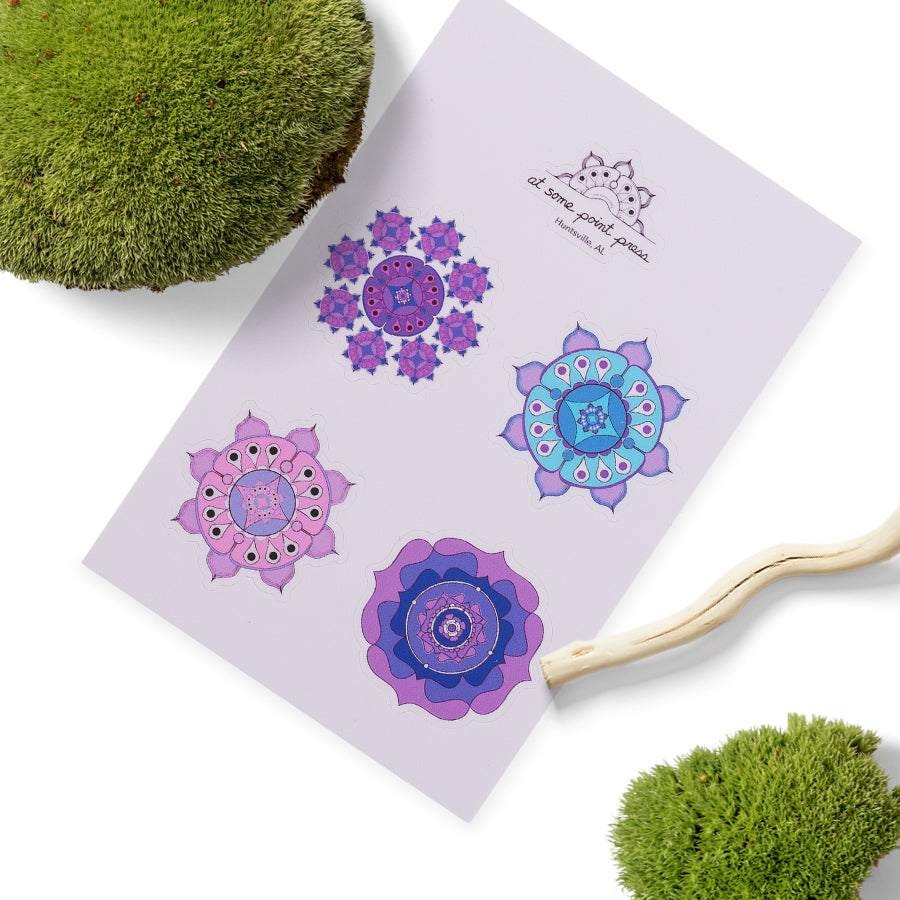 Purple Mandala Stickers
