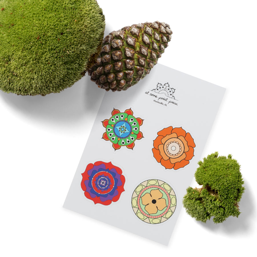 Multi-color Mandala Stickers