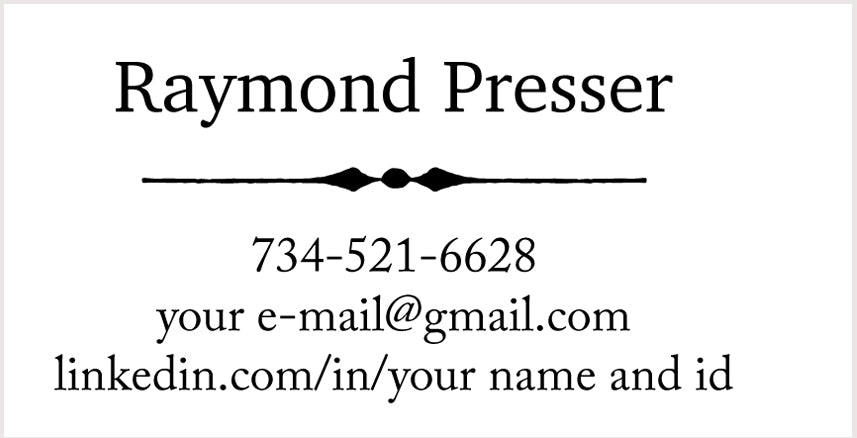 Custom Business Cards on standard paper
