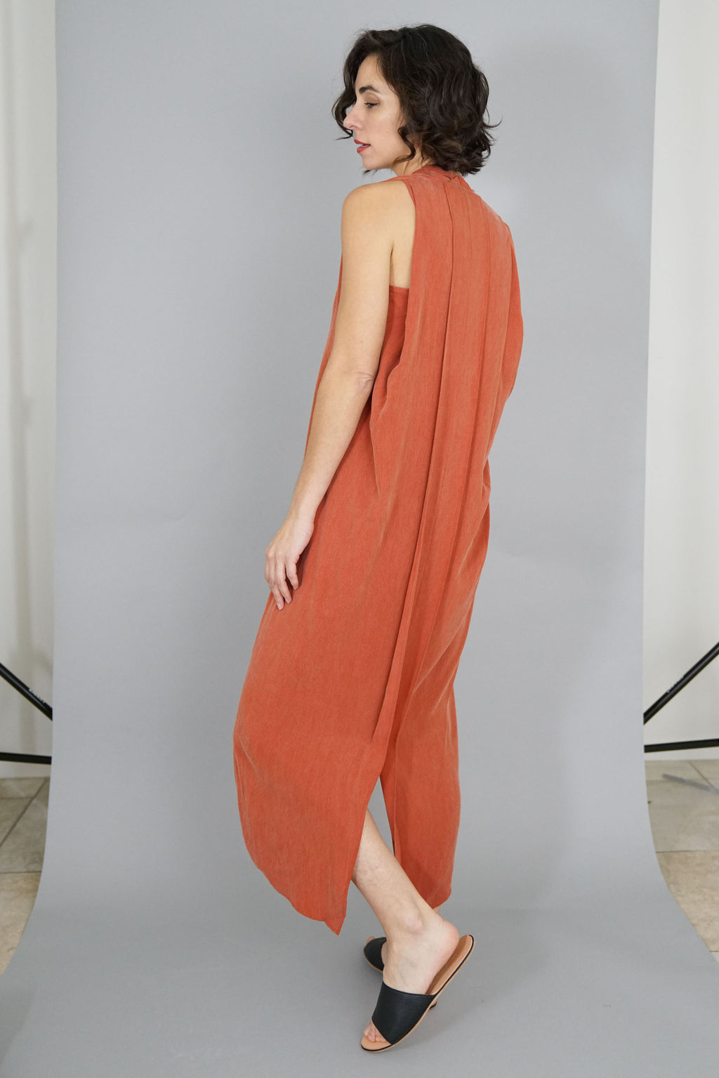 Origami Dress - Coral