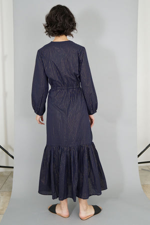 Francis Dress - Maritime Lurex