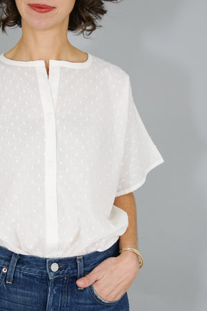 India Button Down - White Dots
