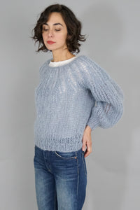 Mohair Pleated Sweater