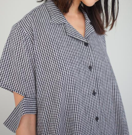Aeva Dress - Black and White Gingham