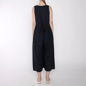 Raw Silk Wide Leg Jumpsuit