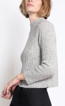 Isa Rib Top - Heather Grey