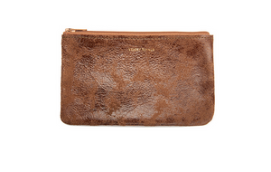 Small Flat Pouch - Terra Cotta Distress