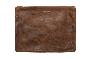 Large Flat Pouch - Terra Cotta Distress