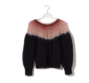 Mohair Pleated Sweater Gradient