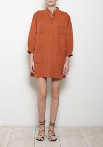 Aragon Mini Dress - Terracotta