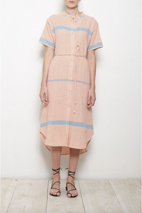 Martine Shirt Dress - Cote Stripe Red