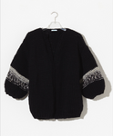 Wool Big Cardigan - Black