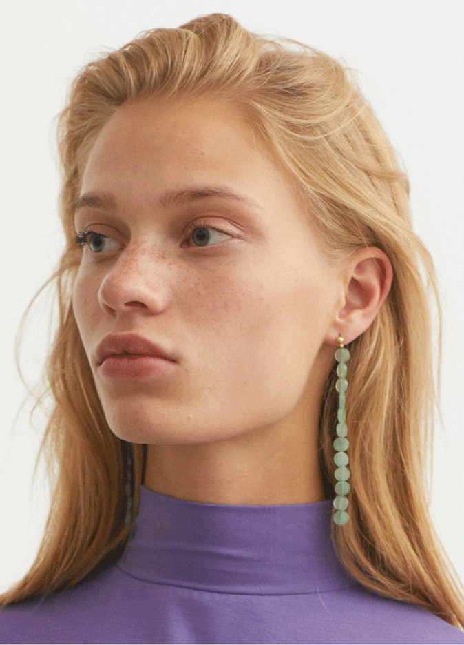 Paloma Wool Lacasa Drop Earrings - Cyan