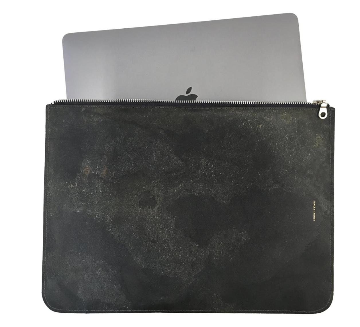 Stone Flat Zip Laptop Case-Stone Slate