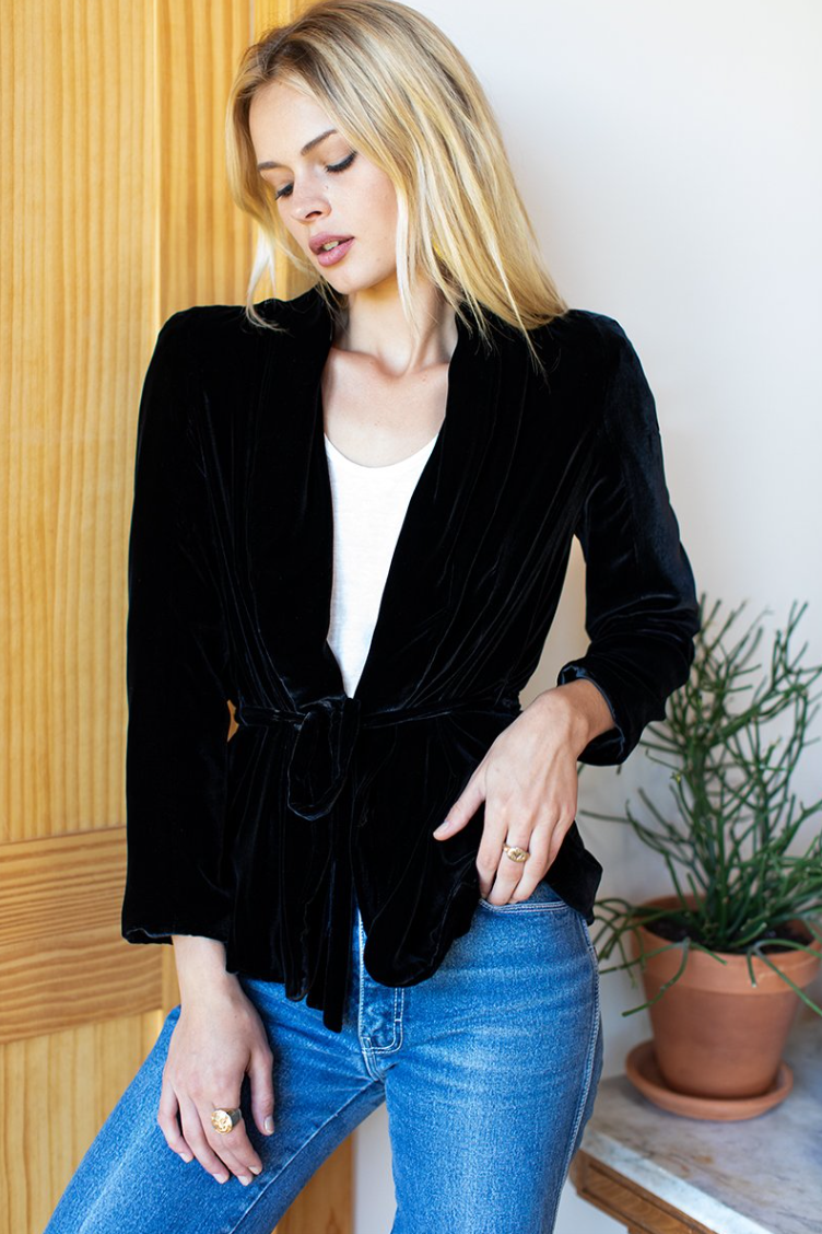 Paris Jacket - Black Velvet