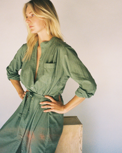 Shirt Dress - Army Green