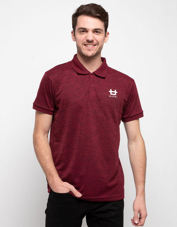 MTH12 thirdday polo casual pria logo dakir shirt misty maroon