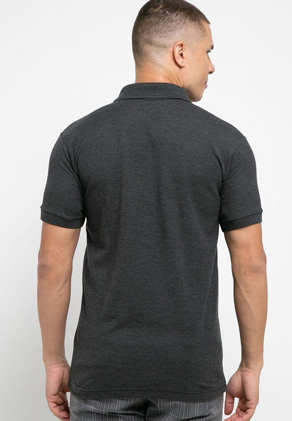 MTH03 thirdday polo casual pria thdy sign shirt hitam