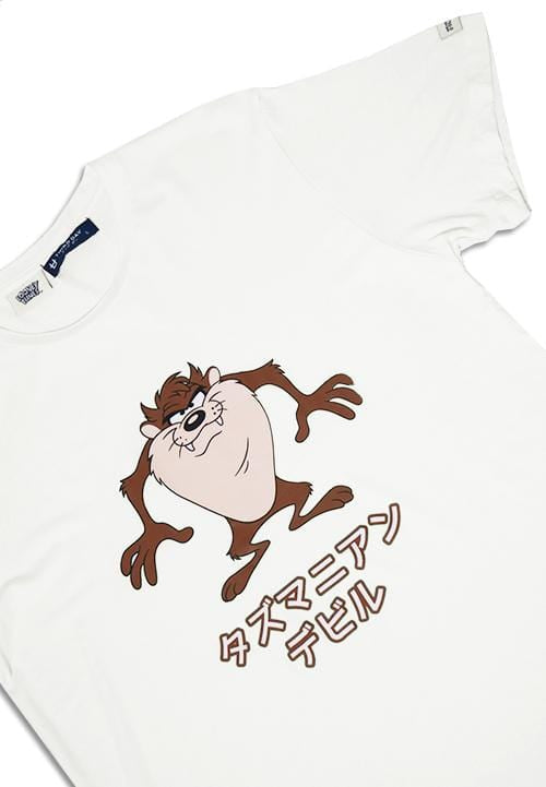 Third Day MTG20 looney tunes tazmanian devil japan putih kaos pria