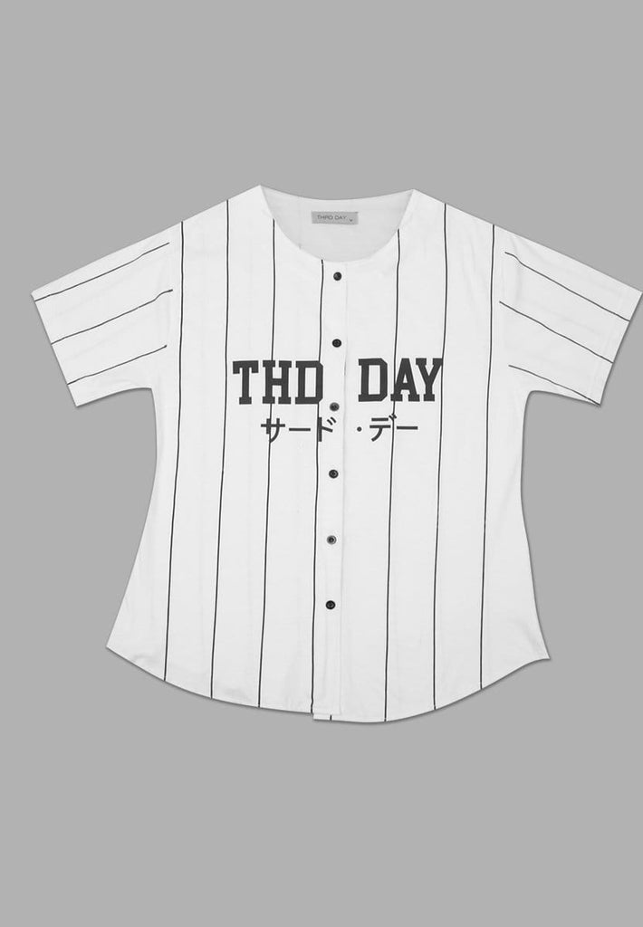 LT844Q s/s Lds Baseball Thd Day wh