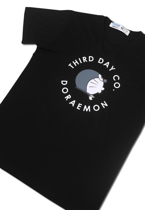 Third Day MTC04A s-s Men Dora Circle whist blk x Modo T-shirt Hitam