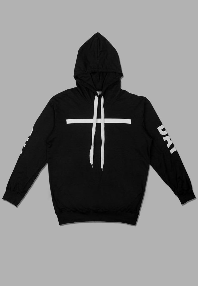 MT713N Men Hoodies Hori Stripe blk