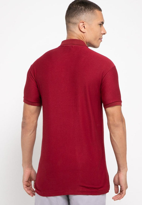 MTG99 Thirdday polo casual pria logo dakir shirt maroon