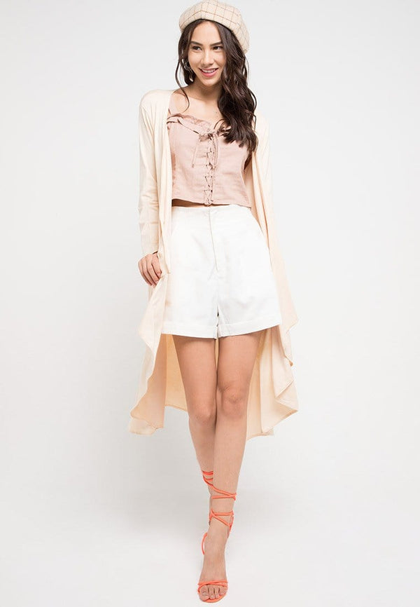 FO0006 Long Outer Nade Ladies Cream