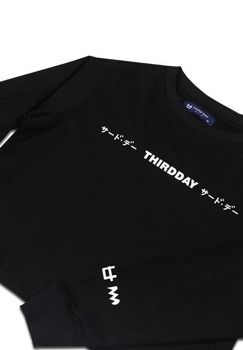 LTA43X l-s Lds Crop Top Sweater Trdday blk x Boy William