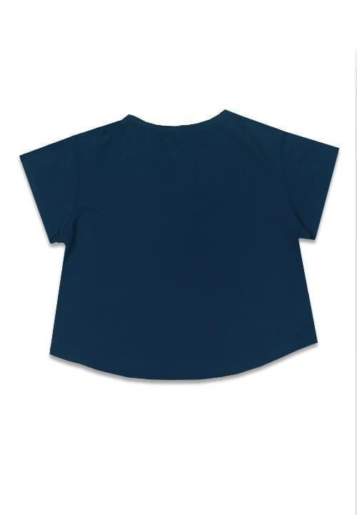 Third Day LTB27E crop blue line nv T-shirt Navy