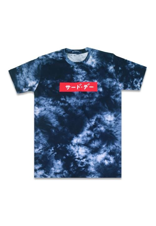 Third Day MTE83 katakana red tiewash nv Kaos Pria Navy