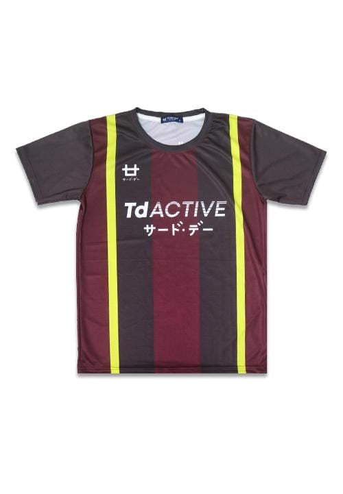 Third Day MS085 td active maroon gold lines running jersey
