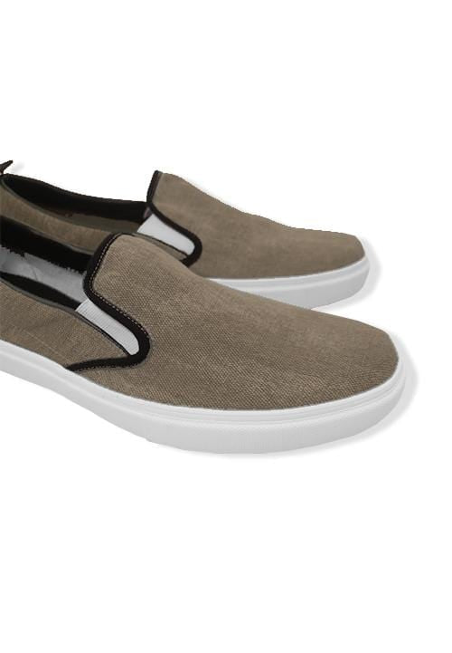 NH031 nade slip on shoes denim dark brown