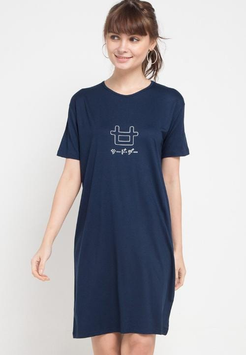 Third Day LTB13D LD outline logo nv T-shirt Navy
