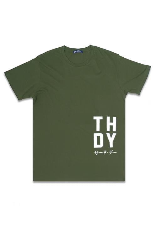 Third Day MTE41F big thdy waist ga T-shirt Olive
