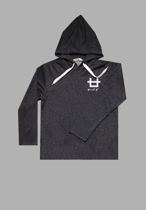 MT949U Men Hoodie Aston Logo Chest blk