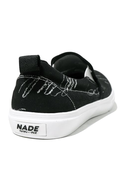 NH025 nade slip on shoes signaturess black