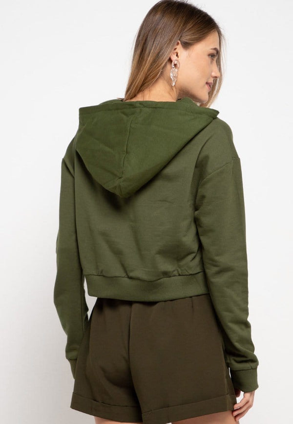 LMP010 pbch crop hoodie thrdy sign square green army