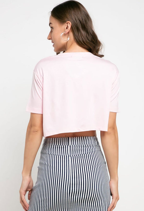 LTD31 thirdday crop top cl logo light pink