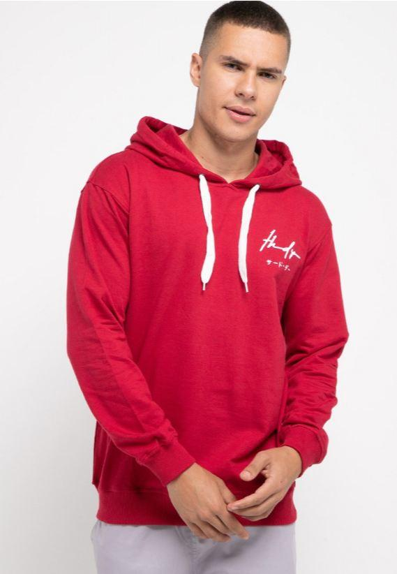 MO193 Thirdday hoodies casual pria dakir thdy sign merah ati