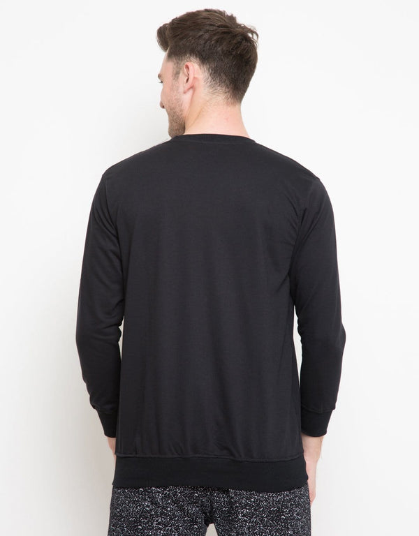 MO181 Sweater Logo Blk