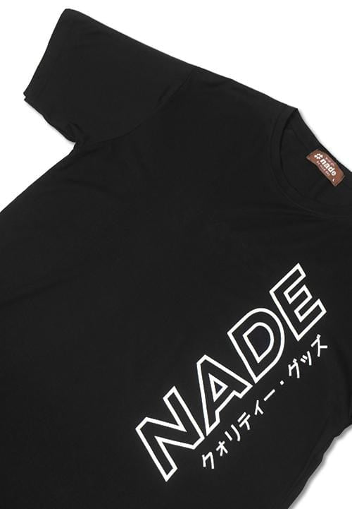 Third Day NT238 nade katakana outline ver blk T-shirt Hitam