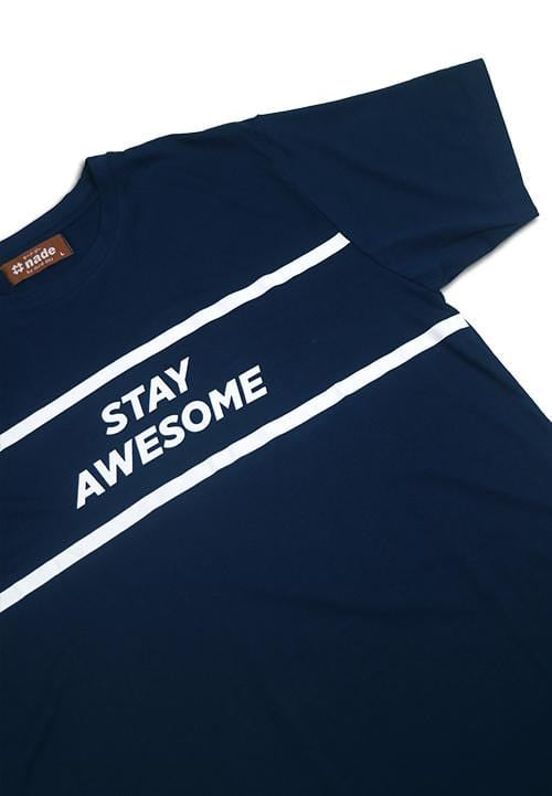 Third Day NT210B stay awesome T-shirt Navy